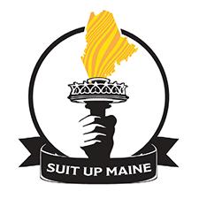 Suit up Maine logo